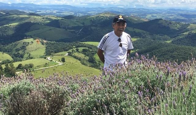 Carlos Massatoshi Higa, que venceu a Covid após 100 dias intubado — Foto: Arquivo Pessoal