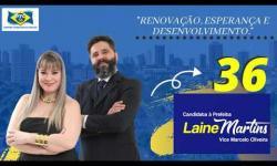 Laine Martins ''Eu voto 36'' para prefeita Araçatuba-SP