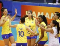 Brasil vence China na final do vôlei feminino e conquista tri nos JMM