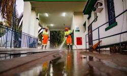 SOSP faz higienização no pronto socorro e terminal rodoviário contra coronavírus