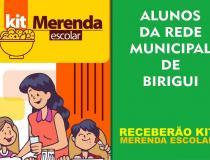 """Prefeitura vai entregar """"kit merenda"""". Pais devem fazer cadastro e retirar alimentos nas escolas"""