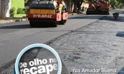 Prefeitura realiza recapeamento de vias em Araçatuba