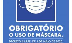 Governo Estadual exige placas de aviso sobre máscara em estabelecimentos