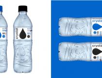 Crystal lança primeira garrafa de água mineral feita 100% com resina reciclada