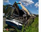 Seis vítimas do acidente entre ônibus e caminhão permanecem internadas