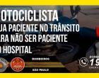Corpo de Bombeiros orienta população sobre a prevenção de acidentes envolvendo motociclistas
