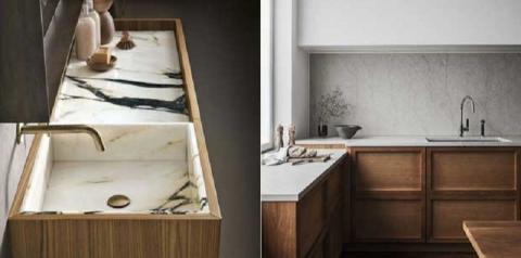 Inspiração: veja como combinar mármore e madeira na decoração