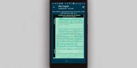 Documento do carro terá  versão digital