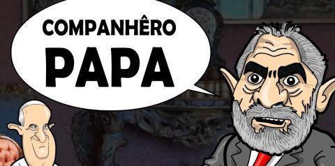 LULA LIVRE encontra o PAPA FRANCISCO
