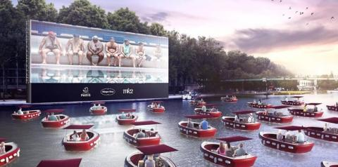 "Paris abre ""cinema drive-in"" para barcos"