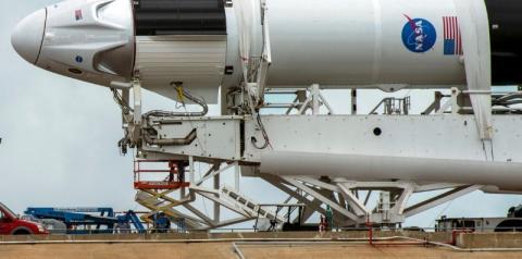 Lançado o 3º voo tripulado da SpaceX com destino à Estação Espacial