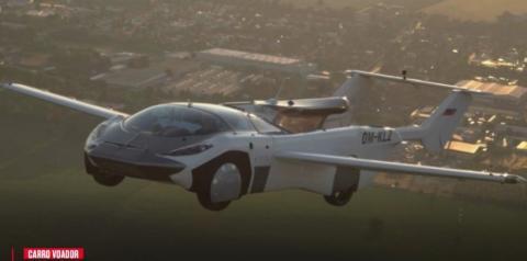 Carro voador completa teste de voo de 35 minutos na Europa