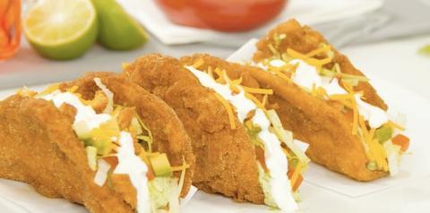 Chalupa de frango frito | Comida mexicana de rua