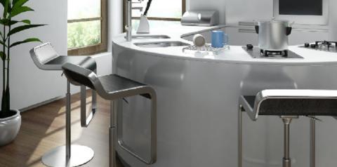 Banquetas de cozinha são boas opções para apartamentos pequenos
