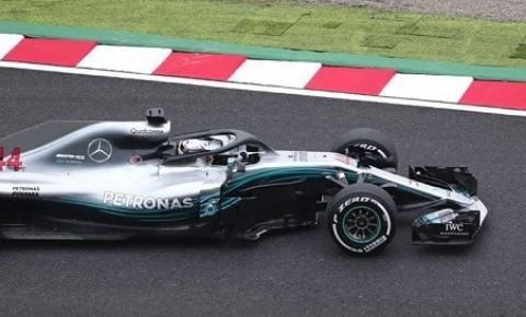Lewis Hamilton mantém a Mercedes no topo na segunda sessão de treinos para o GP do Japão