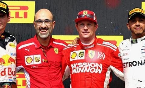 Em melhor corrida do ano, Raikkonen vence e sonho do pentacampeonato de Hamilton fica para o México