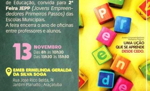 Feira encerra oficinas de empreendedorismo das Emebs de Araçatuba