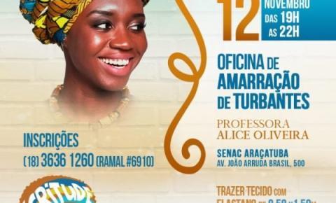 Semana da Igualdade traz técnica de turbantes