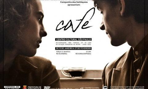 Companhia dos Solilóquios estreia temporada de CAFÉ no Centro Cultural São Paulo