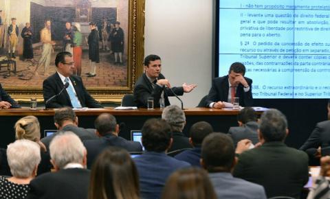 Sérgio Moro apresenta projeto de Lei Anticrime a deputados na Câmara