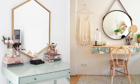 Como decorar e organizar a penteadeira