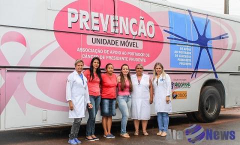 Salmourão receberá visita do ônibus do Hospital do Câncer de Presidente Prudente para realização de exames preventivos