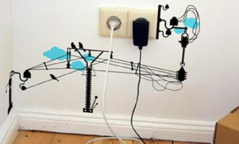 Como organizar fios de aparelhos eletrônicos
