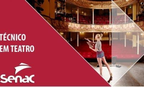 GRÁTIS: Secultur e Senac oferecem curso de Técnico em Teatro; aulas serão no CEU das Artes
