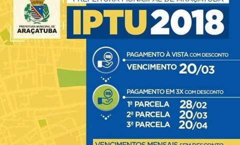 Carnês de IPTU foram entregues; secretário reforça datas de vencimento