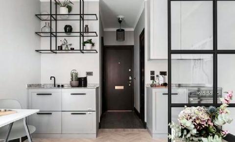 10 cozinhas em cinza e preto
