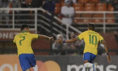 Seleção Brasileira Olímpica vence a Colômbia em amistoso no Pacaembu