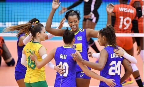 Brasil vence Quênia com sobra na Copa do Mundo feminina de Vôlei