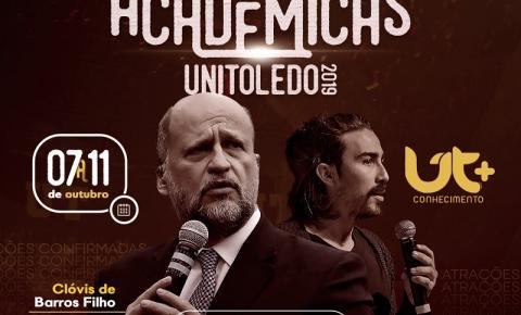 Clovis de Barros Filho abre as Semanas Acadêmicas do Unitoledo