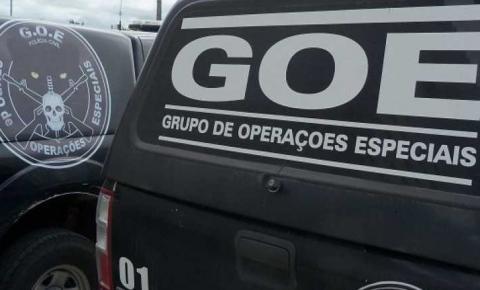 GOE prende desempregado por tráfico, no bairro Porto Real