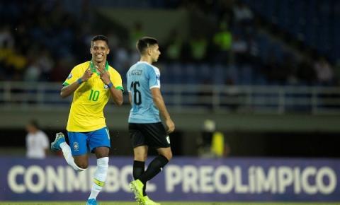 Com participação de Pedrinho, Brasil empata com o Uruguai no Pré-Olímpico para Tóquio-2020