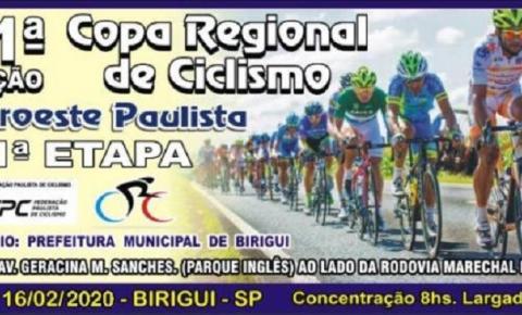 DIA 16/2: Birigui vai sediar a 1ª Etapa da Copa Regional de Ciclismo Noroeste Paulista