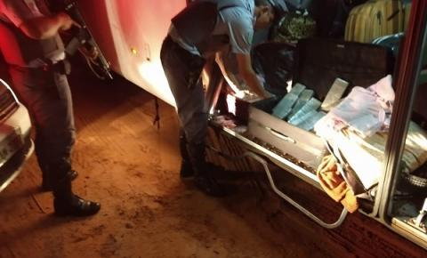 Policiais Rodoviários prendem mulher que estava com drogas na bagagem