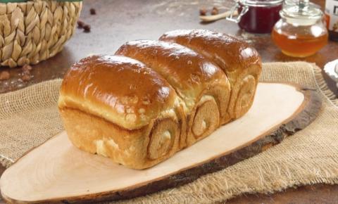 Pão caseiro e macio para o café da manhã