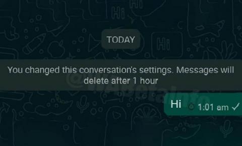 WhatsApp volta a testar recurso que destrói mensagens automaticamente