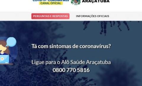 Prefeitura lança canais gratuitos de orientações e triagem sobre coronavírus em Araçatuba