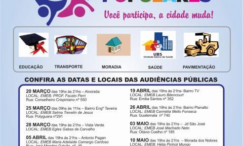 Prefeitura realiza série de audiências públicas populares