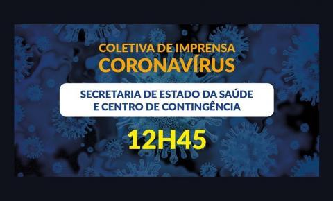 Secretaria da Saúde e Centro de Contingência atualizam ações de combate ao coronavírus