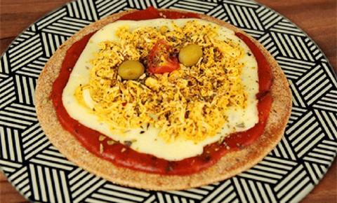 Pizza crocante de frigideira