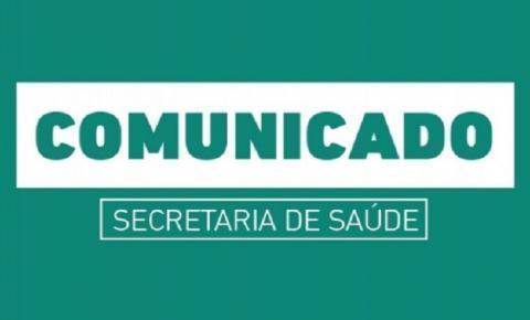 Protocolos covid-19: Comunicado Oficial da Secretaria Municipal de Saúde de Birigui