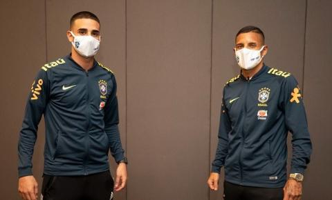 Thiago Galhardo e Guilherme Arana se apresentam à seleção brasileira