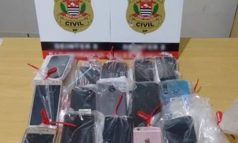 Polícia Civil recupera 15 celulares em Dracena