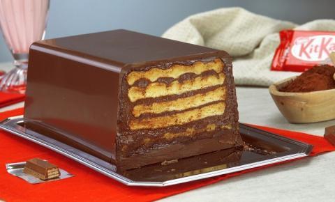 Barra de KitKat tamanho família | Com waffles e creme de chocolate