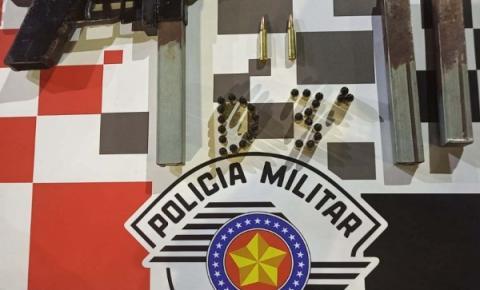 Policiais Militares apreendem um fuzil de fabricação caseira