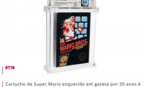 Cartucho de Super Mario esquecido em gaveta por 35 anos é vendido por R$ 3,7 milhões