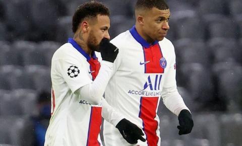 Neymar e Mbappé decidem e PSG derrota Bayern por 3 a 2